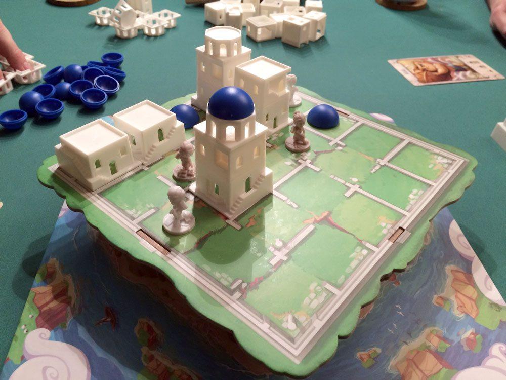 Santorini game in progress