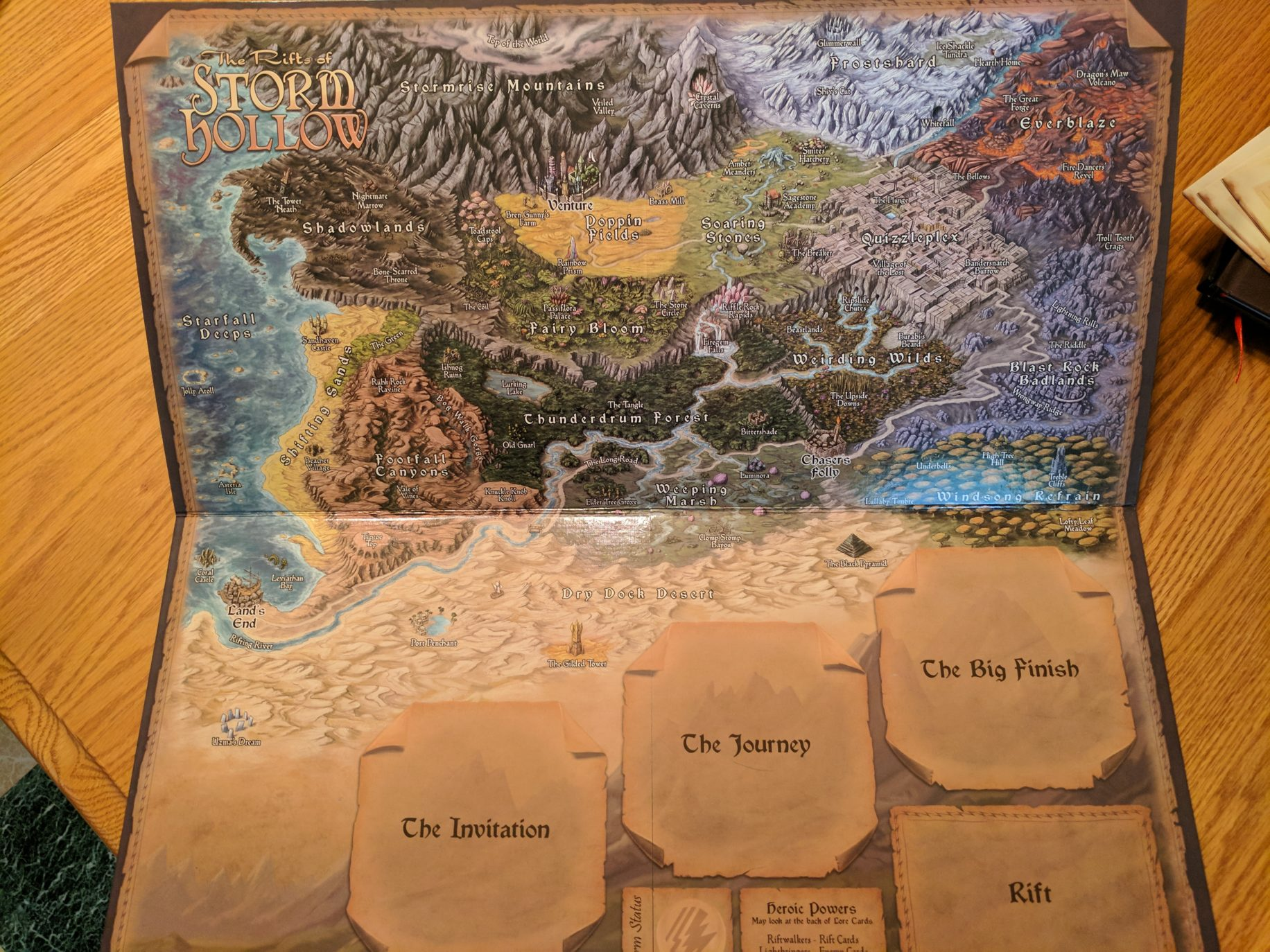 Storm Hollow Preludes Map Board