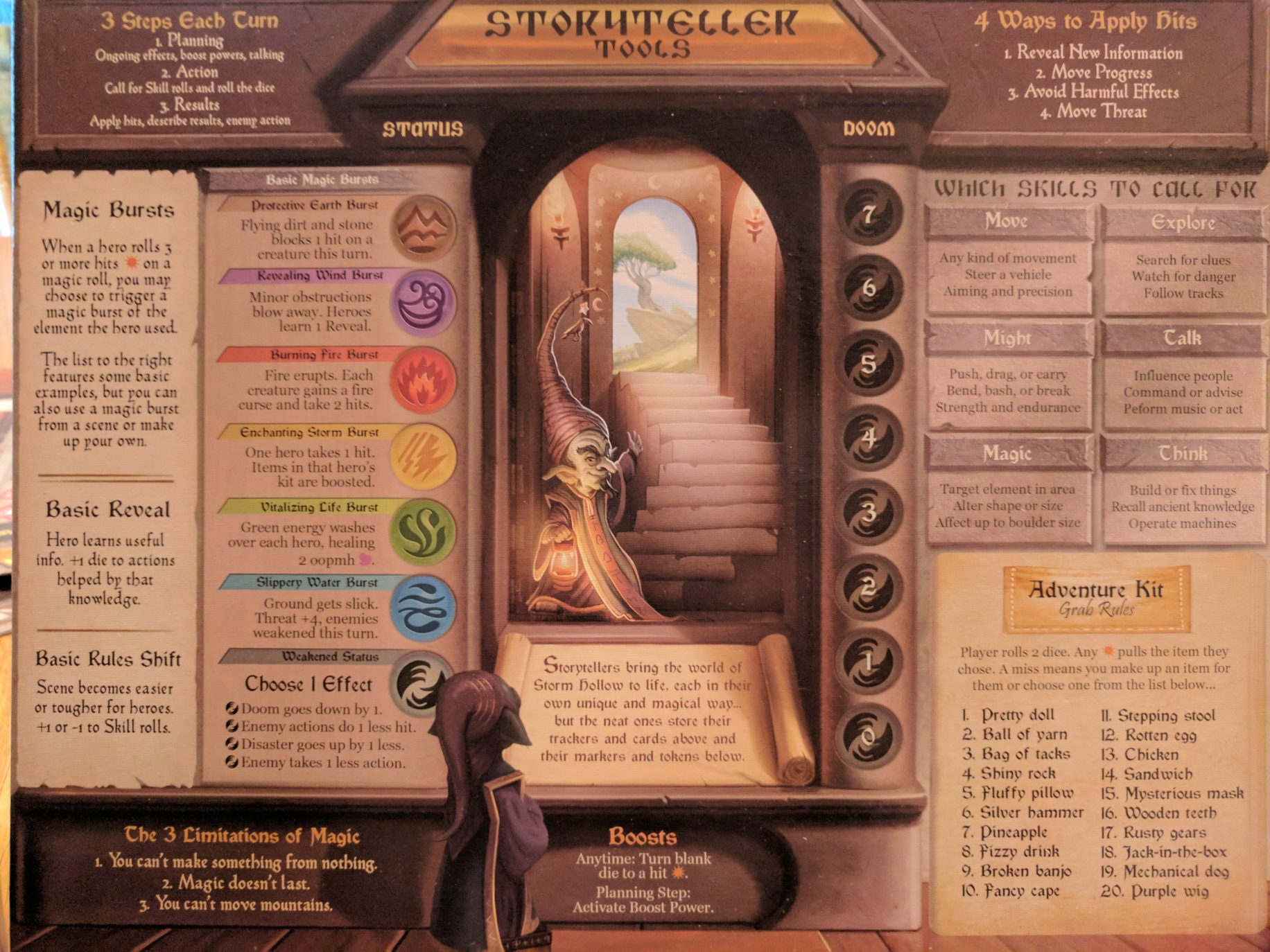 Storm Hollow Preludes Storyteller Board