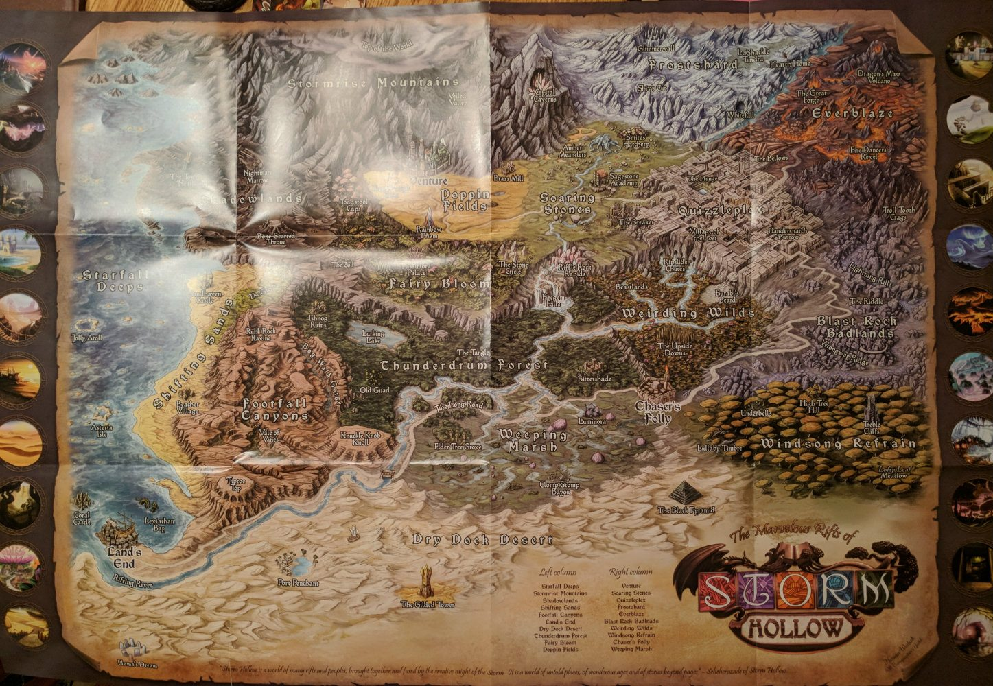 Storm Hollow Story Souvenirs Map Poster