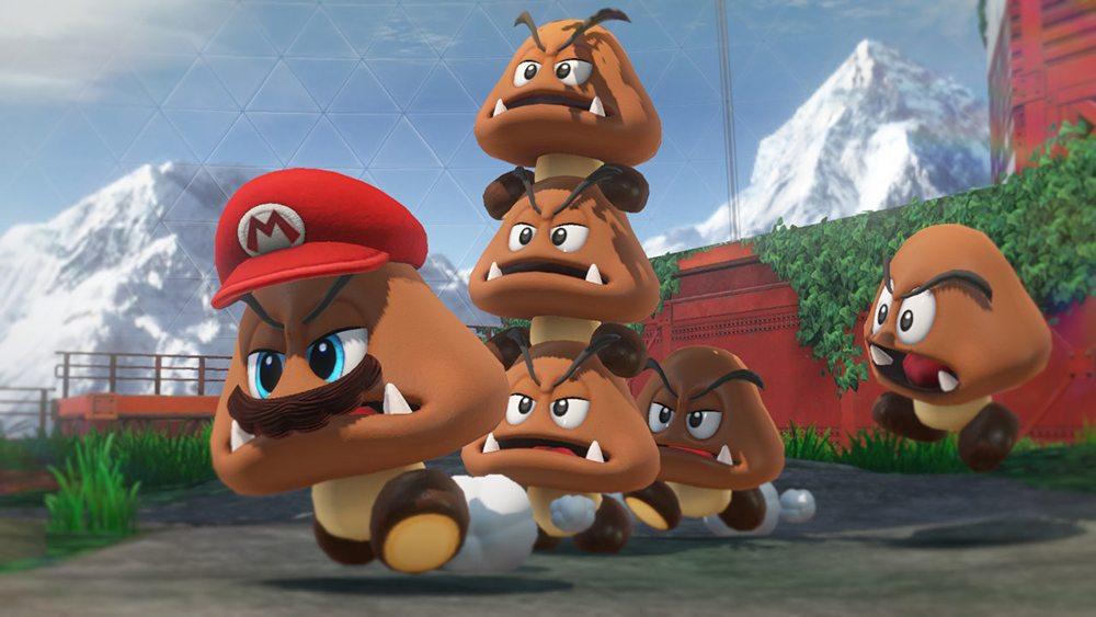 Super Mario Odyssey Goombas