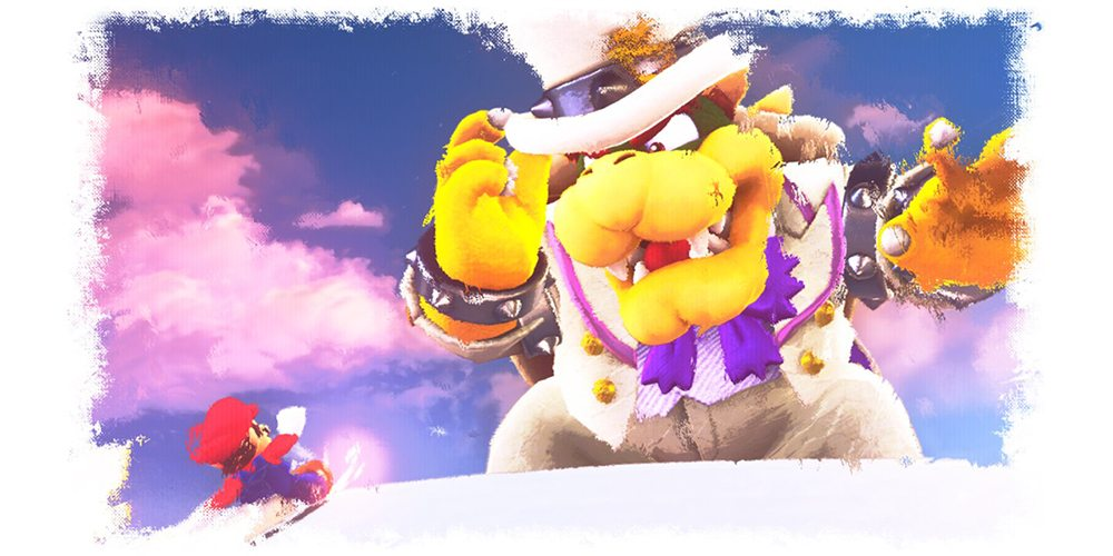 Super Mario Odyssey Mario vs Bowser