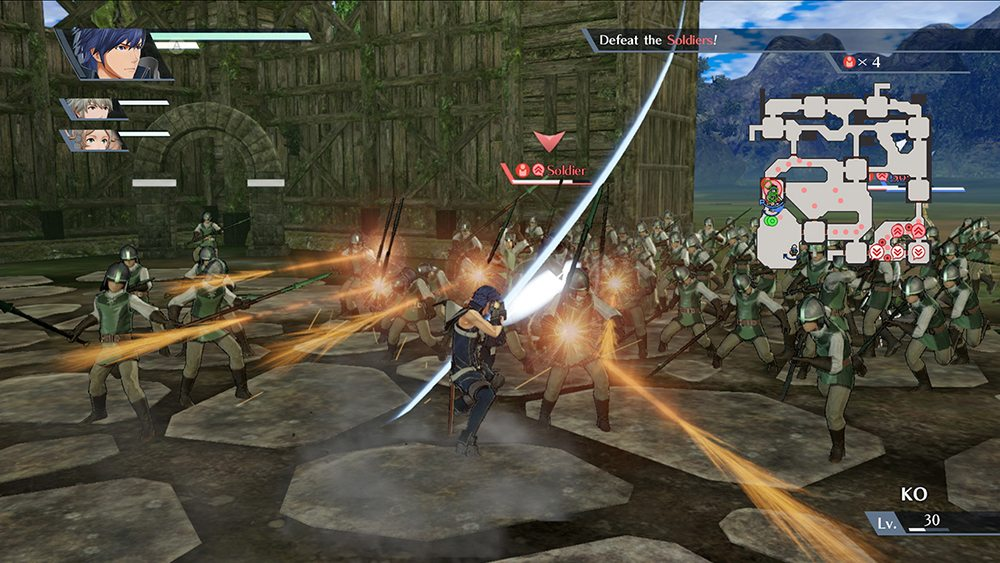 Switch 'Fire Emblem Warriors': Chrom attacks