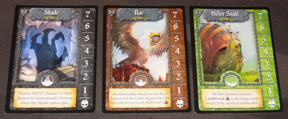 Tiny Epic Defenders: The Dark War general cards