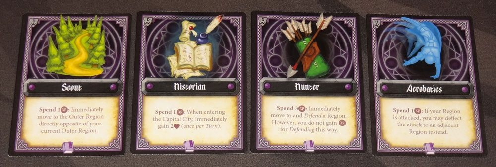 Tiny Epic Defenders: The Dark War skill cards