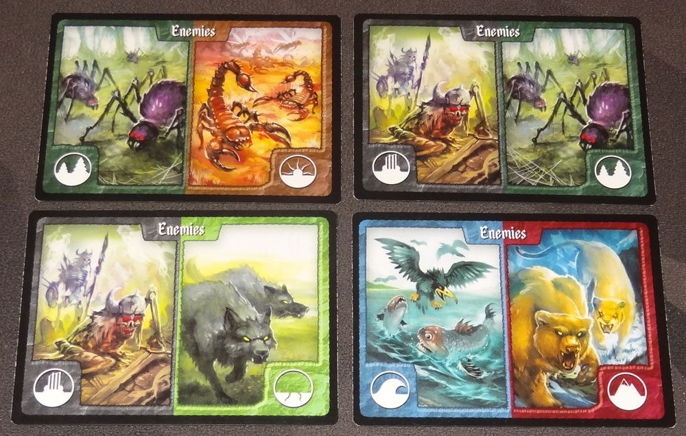 Tiny Epic Defenders enemy cards