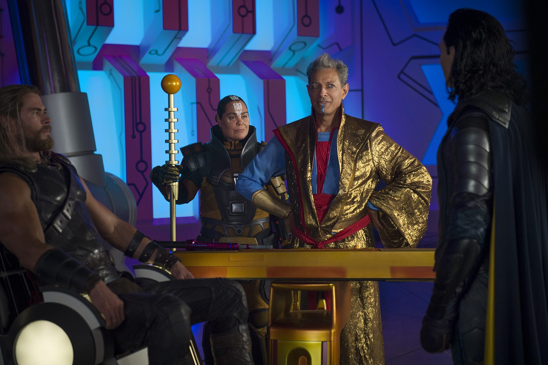 Jeff Goldblum as Grandmaster in 'Thor: Ragnarok'.