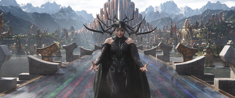 Hela (Cate Blanchett) invades Asgard in 'Thor: Ragnarok'
