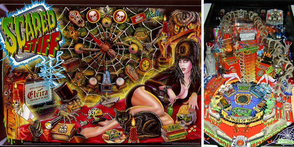 Scared Stiff Horror Pinball