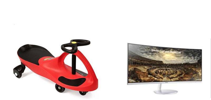 Geek Daily Deals ride on toys gaming monitors