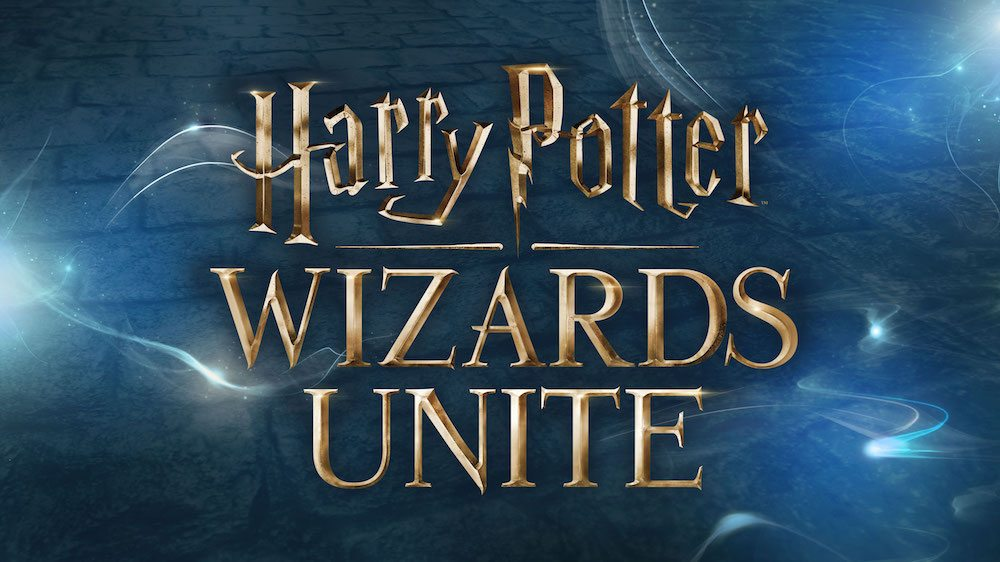 Harry Potter Wizards Unite in HP font