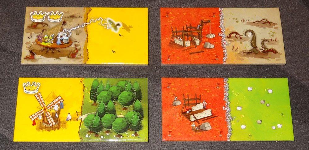 Queendomino domino tiles