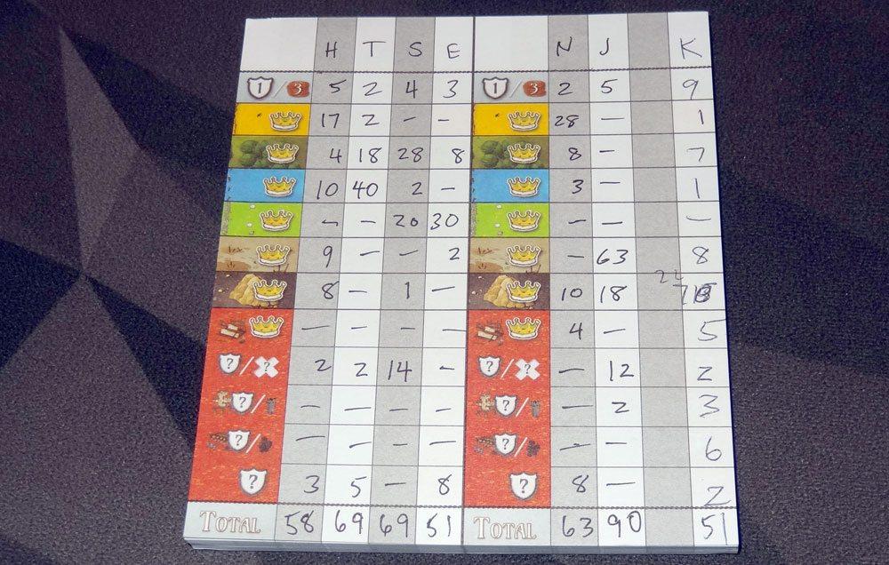 Queendomino score pad