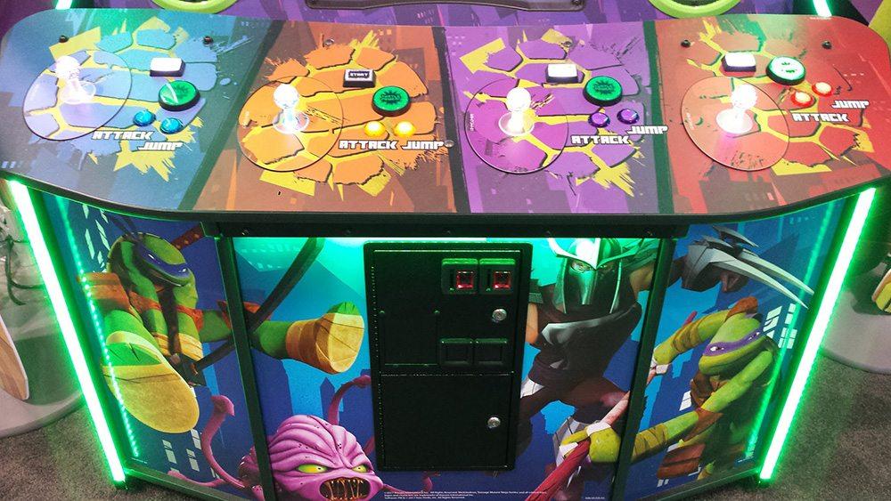 Teenage Mutant Ninja Turtles Arcade game control panel