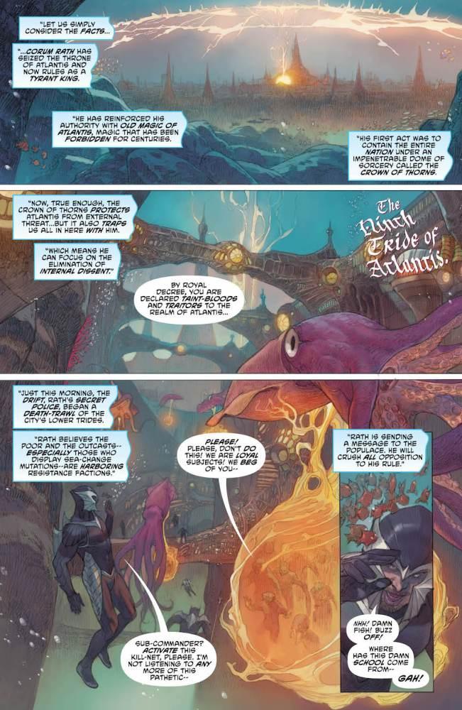 Aquaman #31, Coram Rath's decree