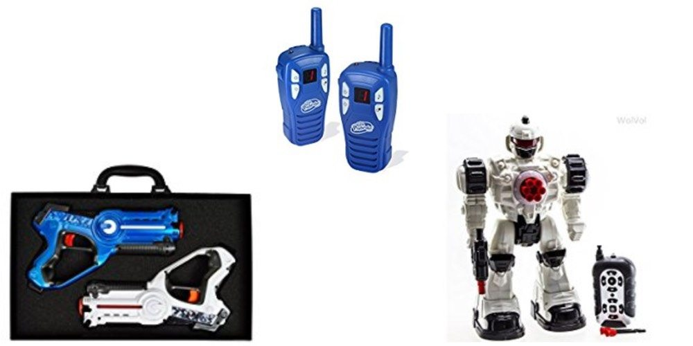 Geek Daily Deals 121917 laser tag walkee talkies RC robot