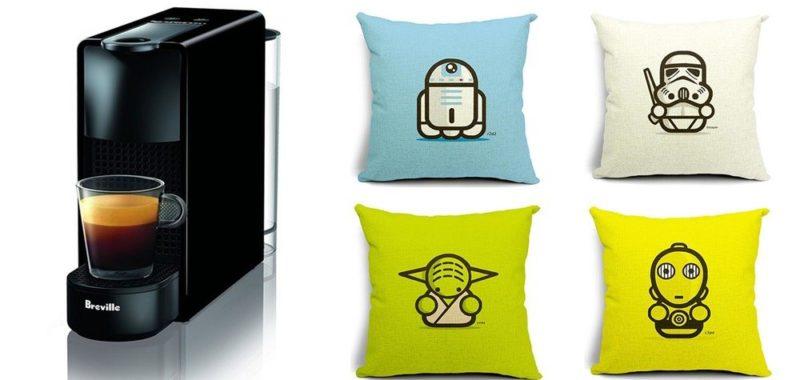 Geek Daily Deals 122117 nespresso star wars pillows