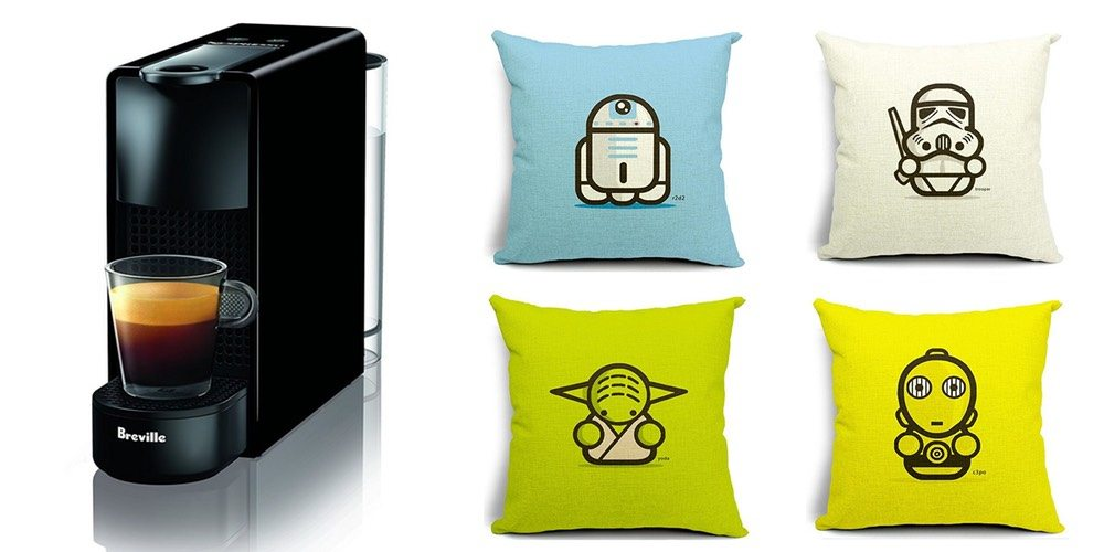 Geek Daily Deals 122117 nespresso star wars pillows