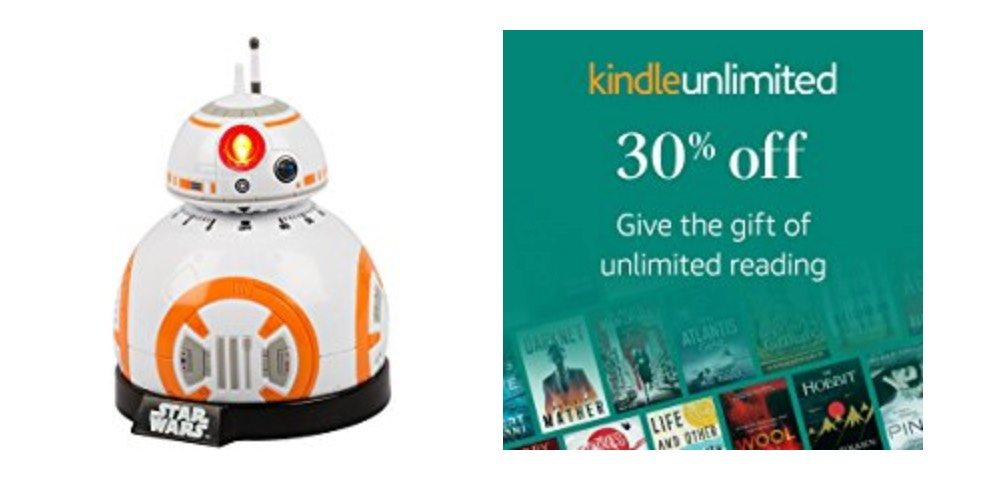 Geek Daily Deals 122317 BB8 kitchen timer kindle unlimited