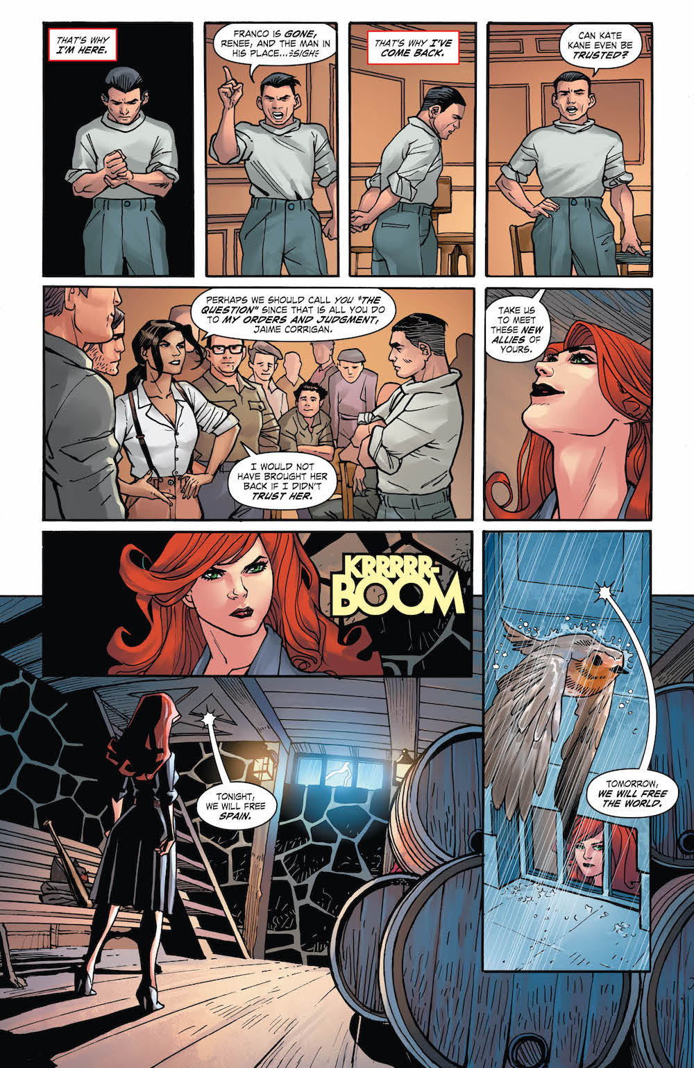 Kate Kane, Renee Montoya, DC Comics Bombshells United #7