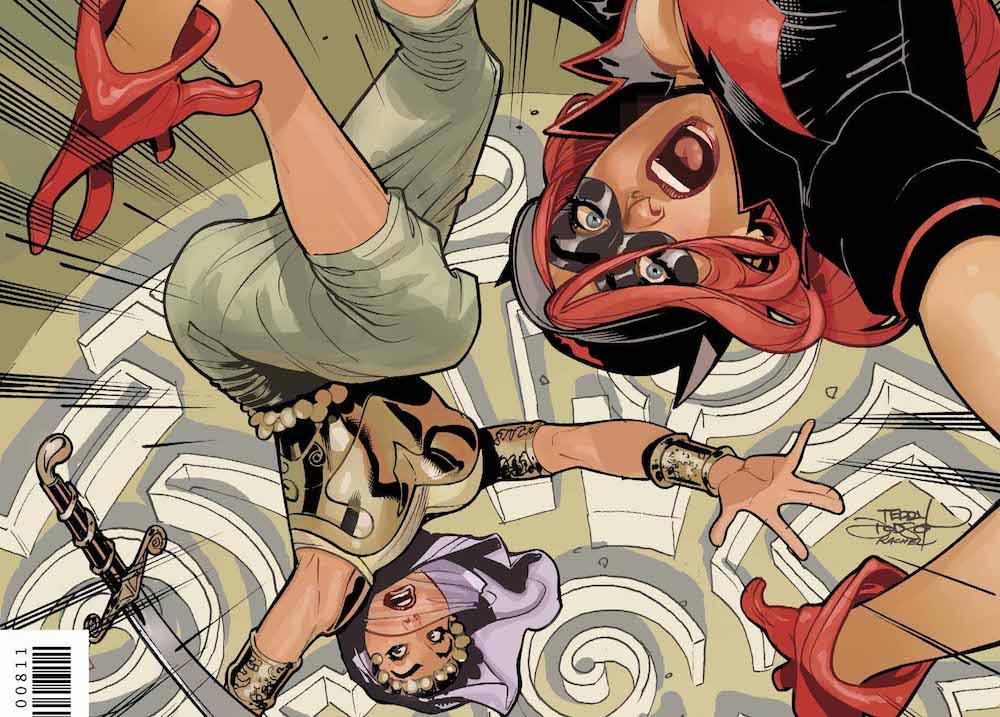 DC Bombshells United #8 cover, Talia Al Ghul