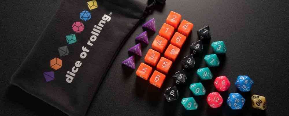 Dice of Rolling dice set.