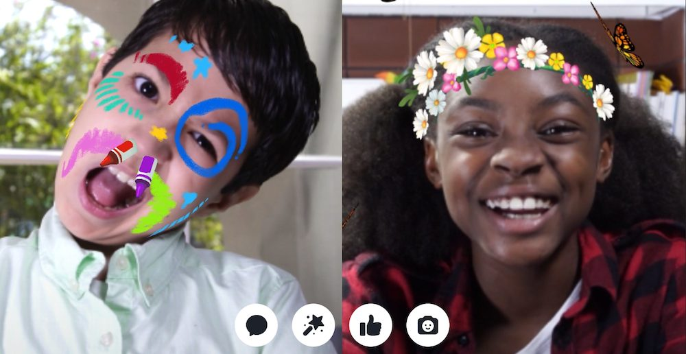 Facebook Messenger Kids features safe video chat.