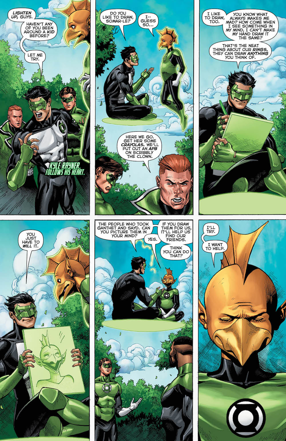 Hal Jordan & the Green Lantern Corps 34, Kyle