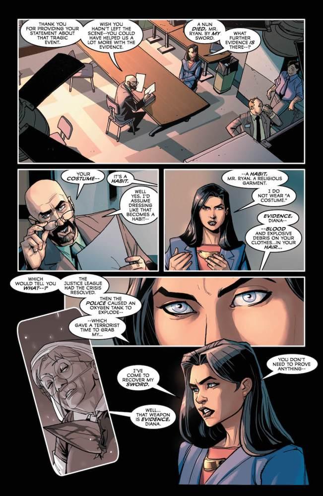 Justice League #35, page 2, Wonder Woman