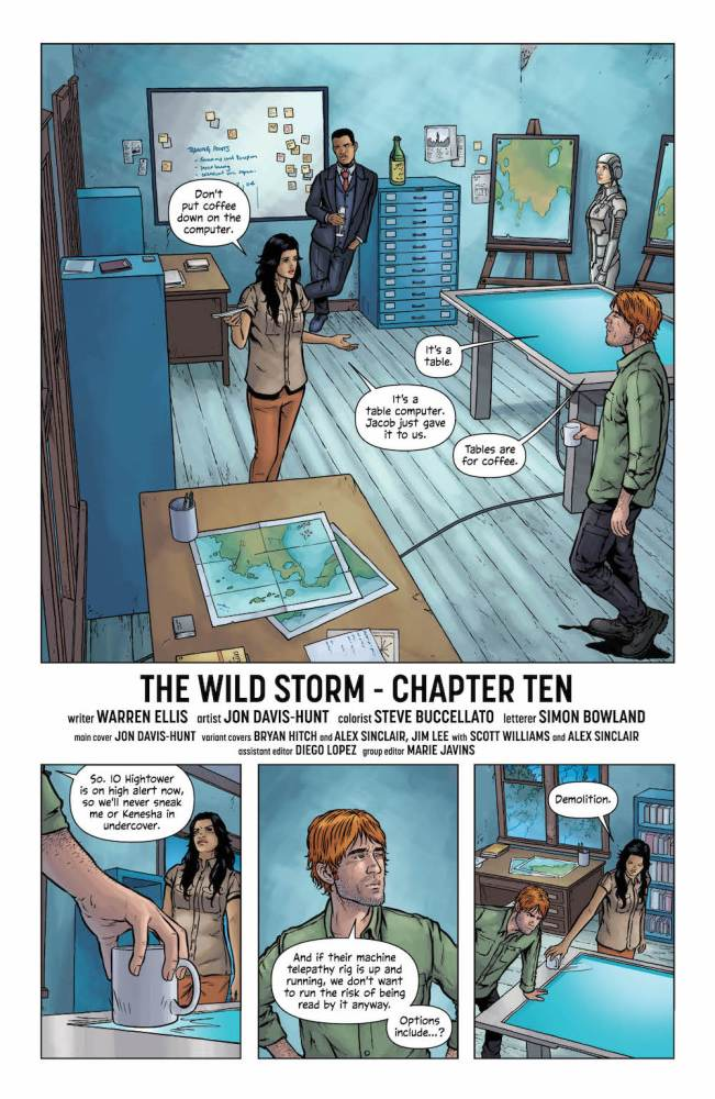 The Wild Storm #10 page 1 Grifter