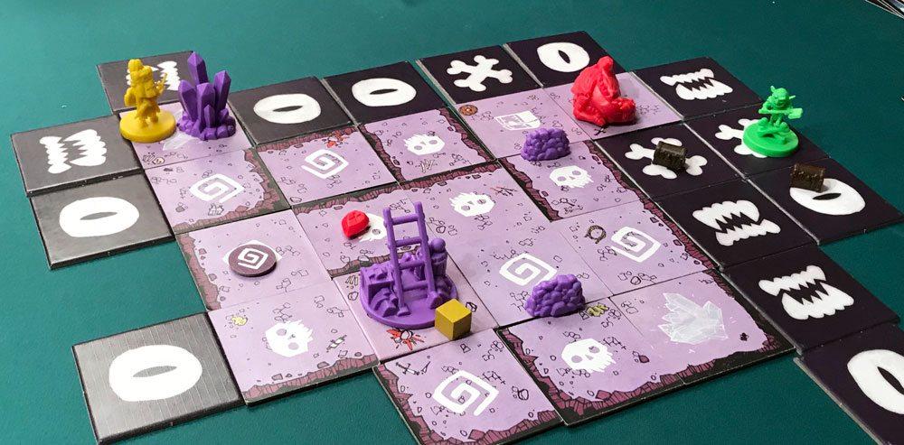 Vast miniatures, game in progress