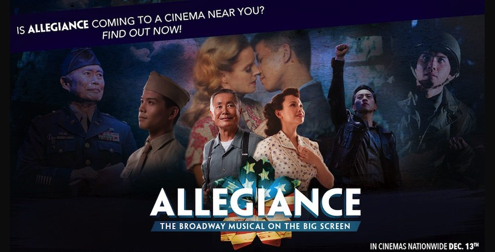 movie poster for Allegiance musical movie