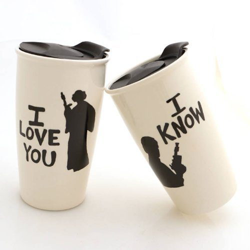 Han and Leia Star Wars Eco Travel Mug Set