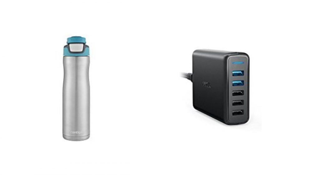 Geek Daily Deals 010418 water bottles usb charger