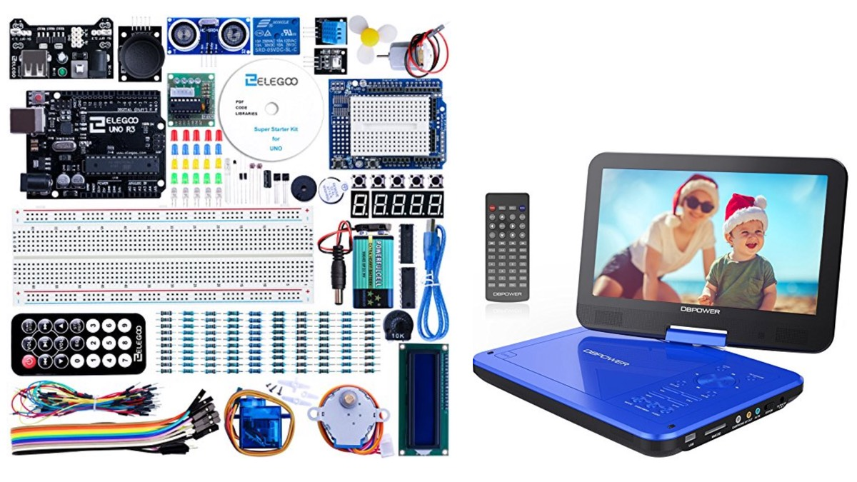 Geek Daily Deals 010918 arduino kit portable dvd player