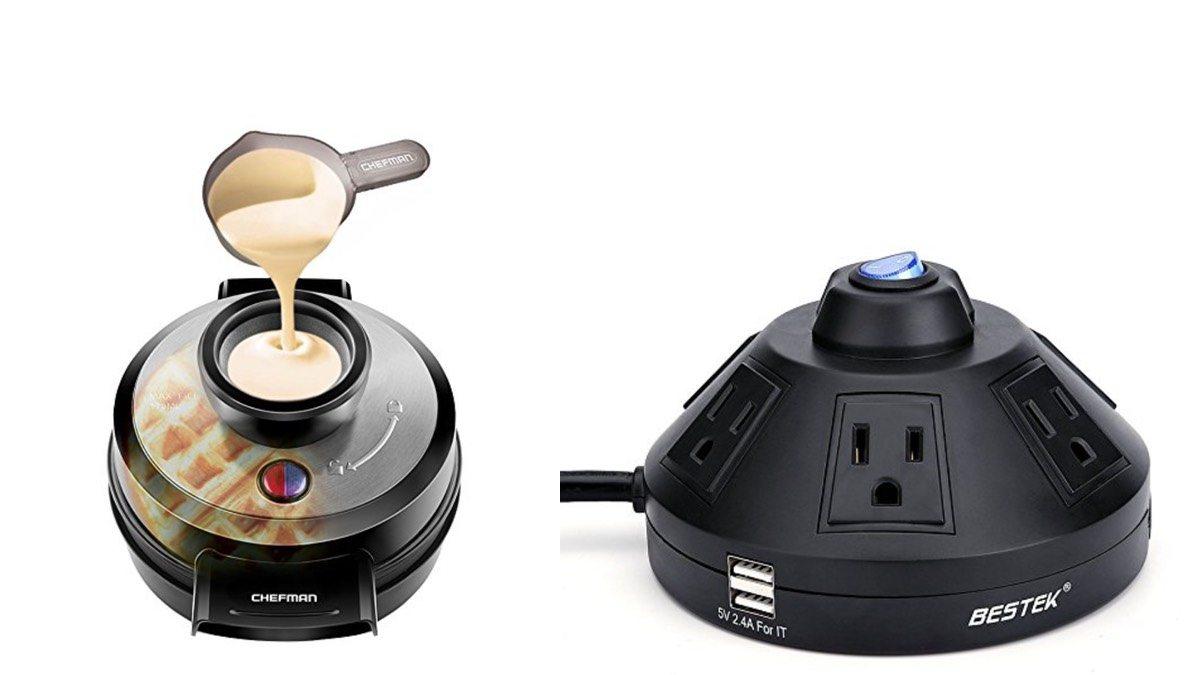 Geek Daily Deals 011018 waffle maker power strip
