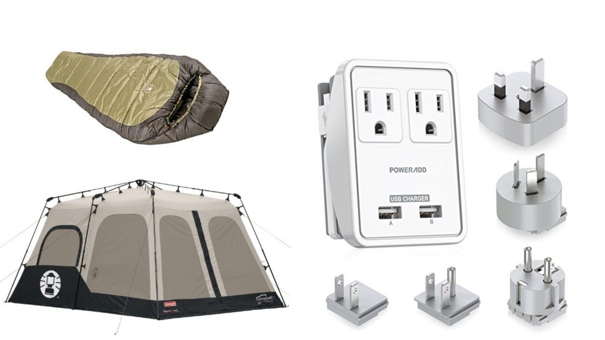 Geek Daily Deals 011418 camping gear international travel power adapter