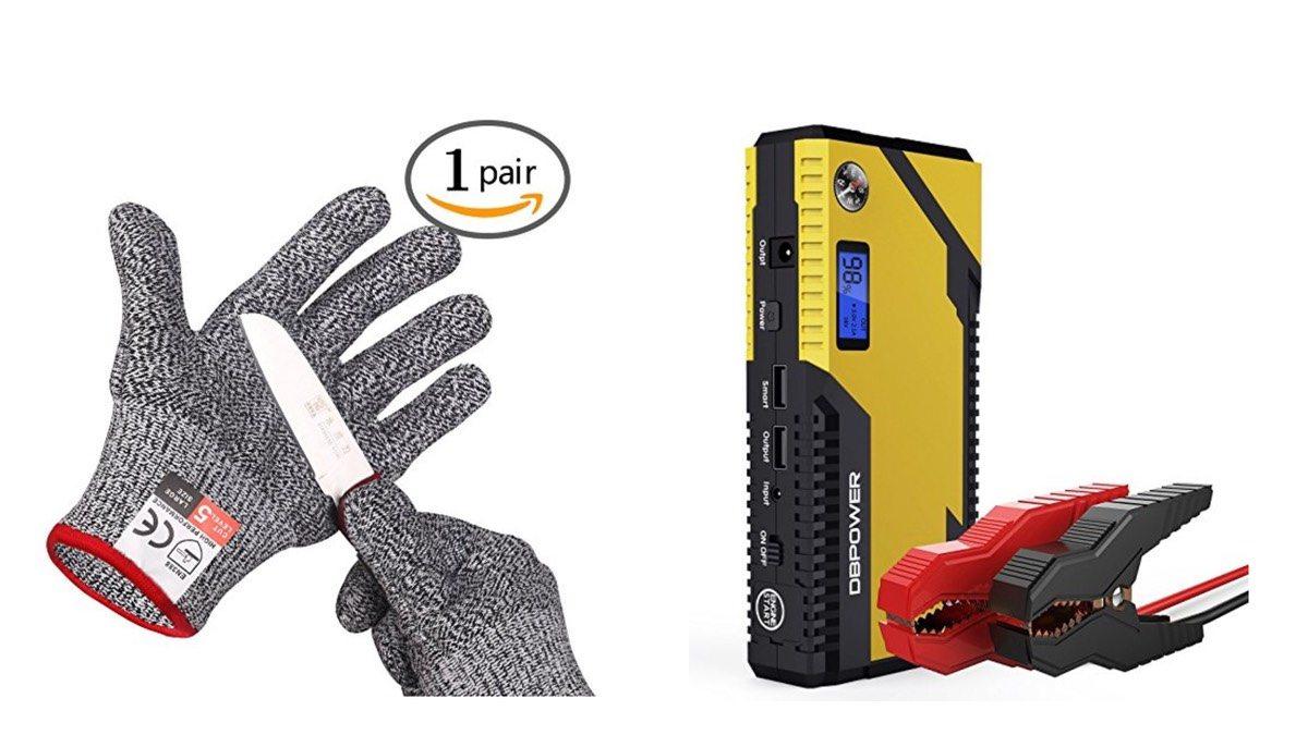 Geek Daily Deals 011418 cut resistant gloves car jumper