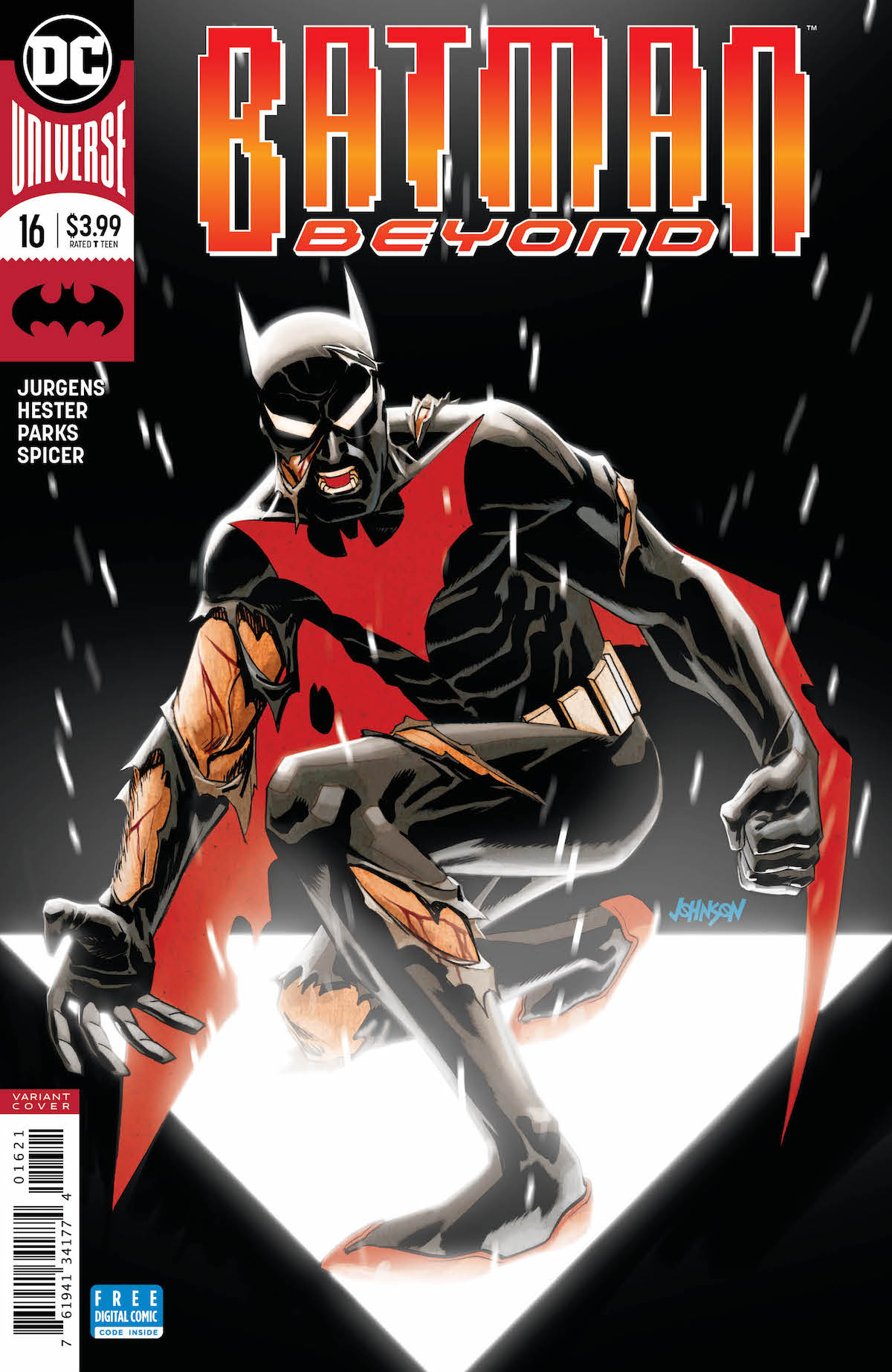 Batman Beyond #16 variant cover