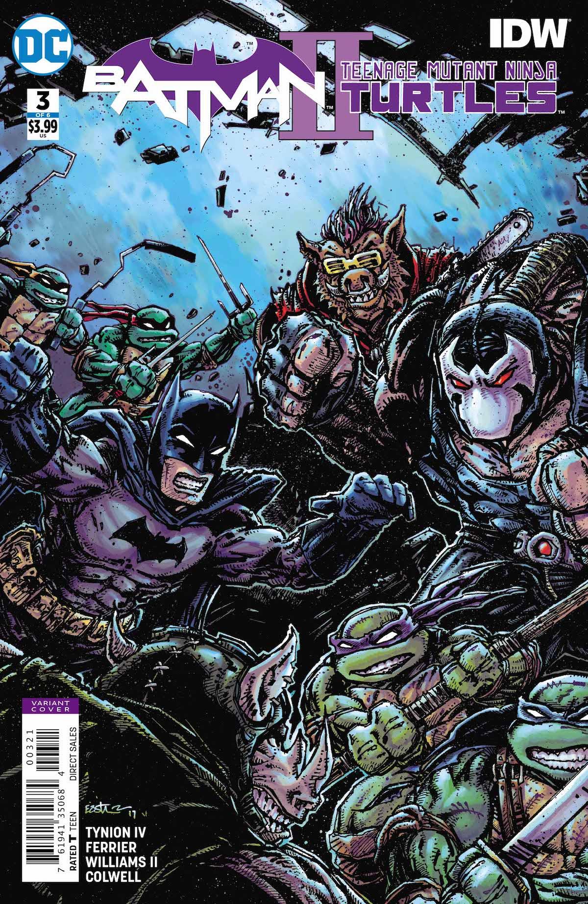Batman/Teenage Mutant Ninja Turtles #3 variant cover