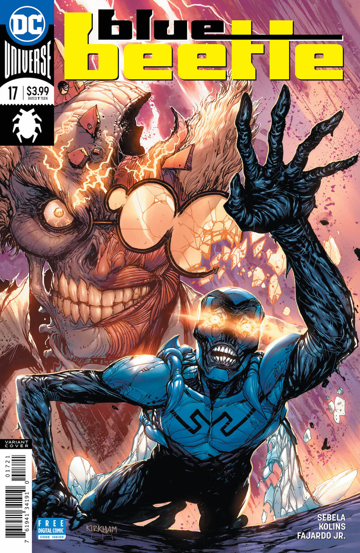 Blue Beetle #17 cover