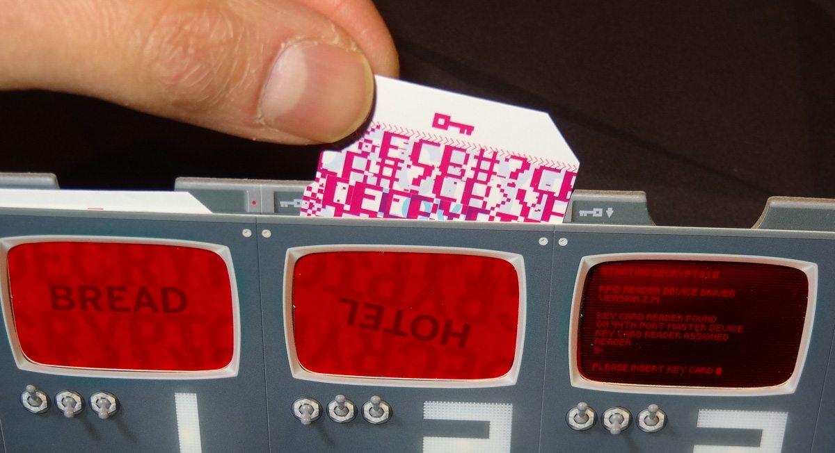 Decrypto keyword card in screen
