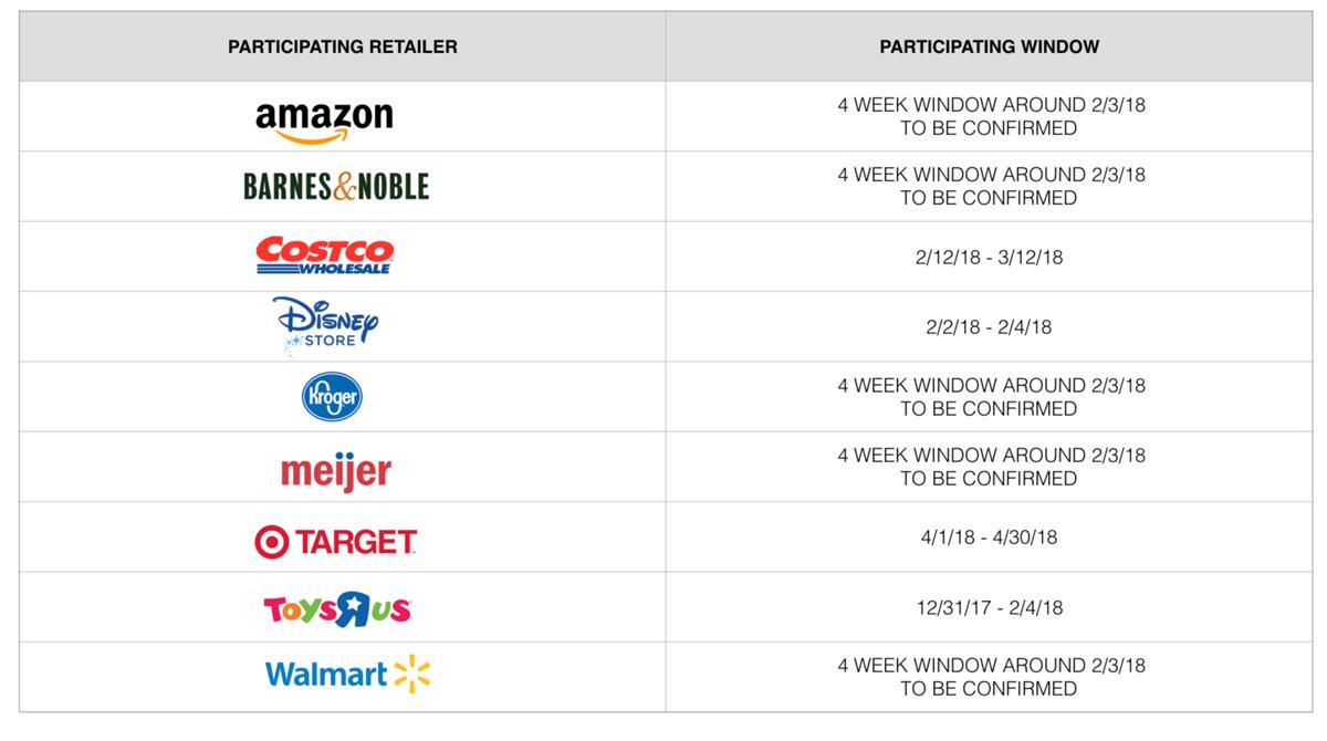 Disney Participating Book Retailers