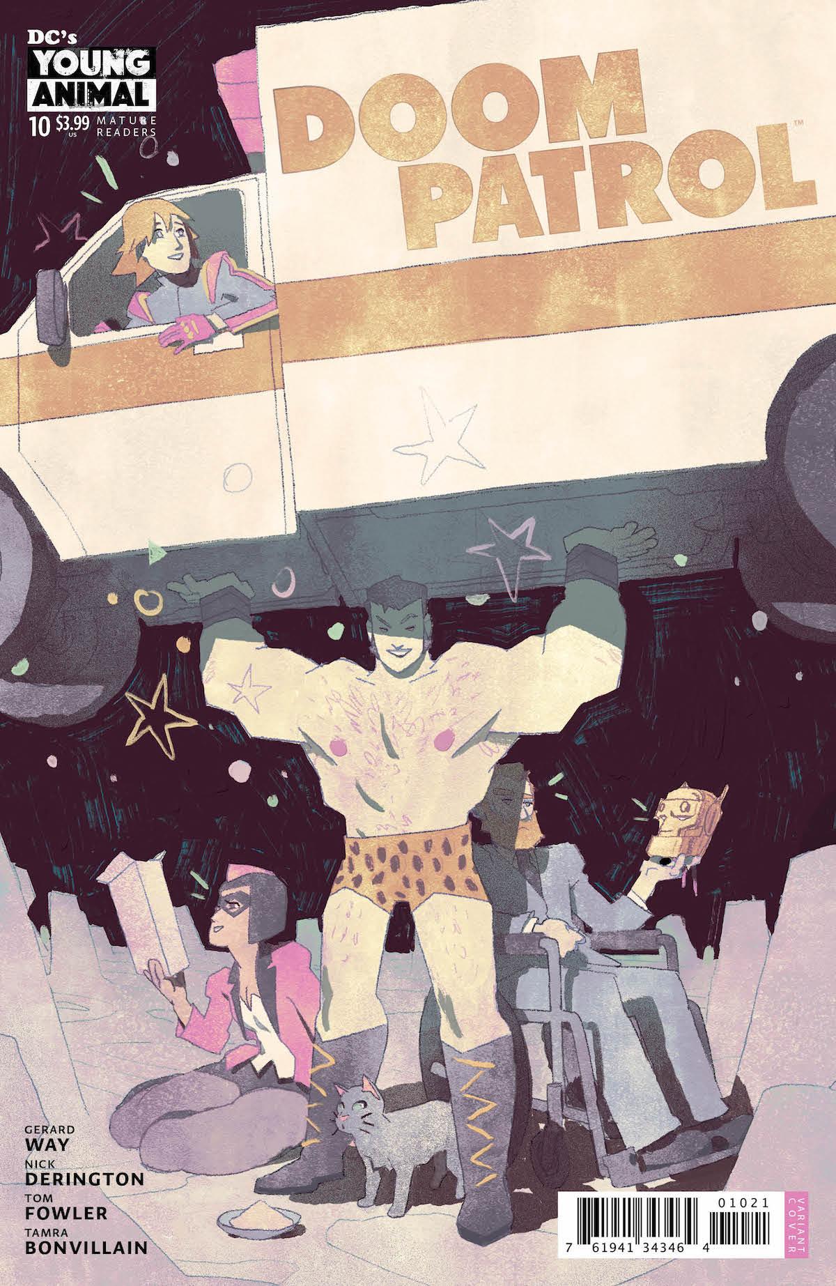 Doom Patrol #10 variant cover.