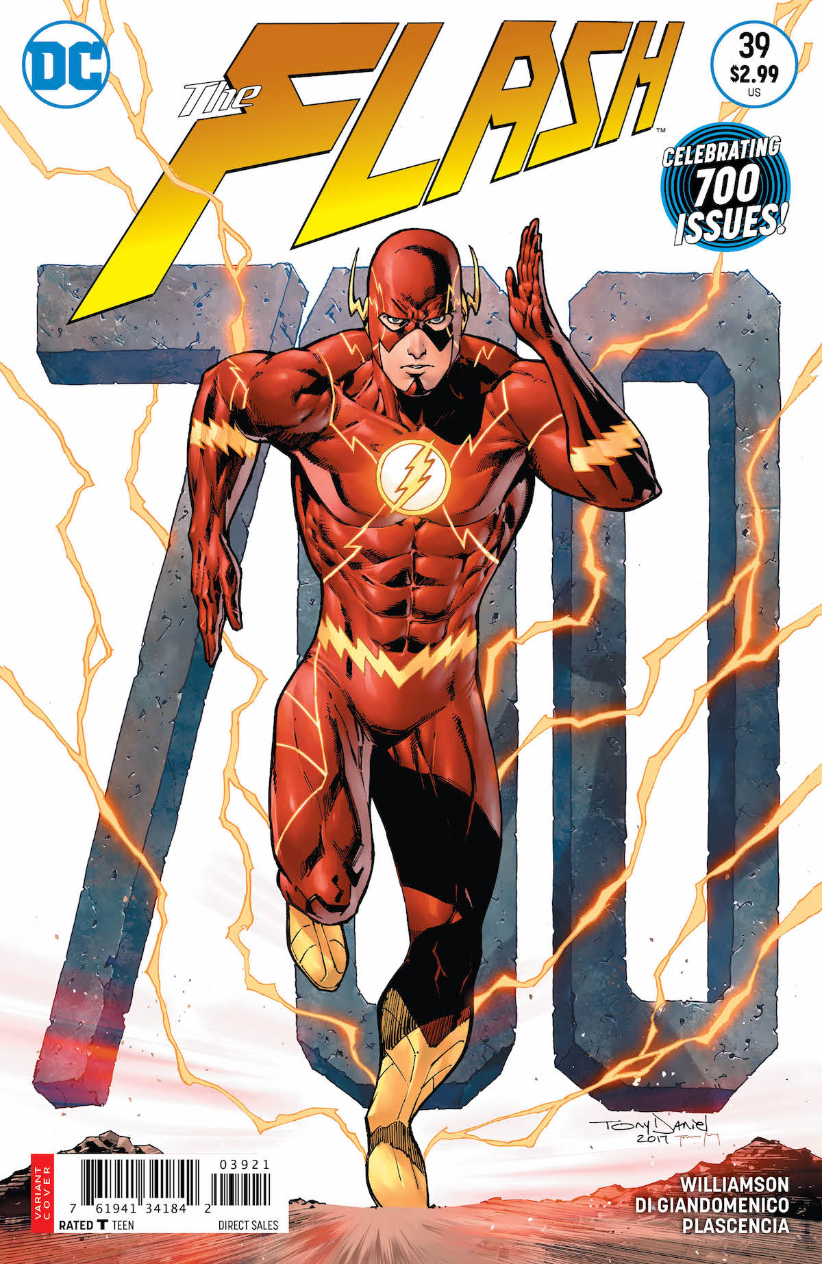 Flash #39 variant cover with 700