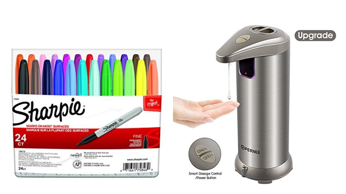 Geek Daily Deals 012218 sharpie pens touch free soap dispenser