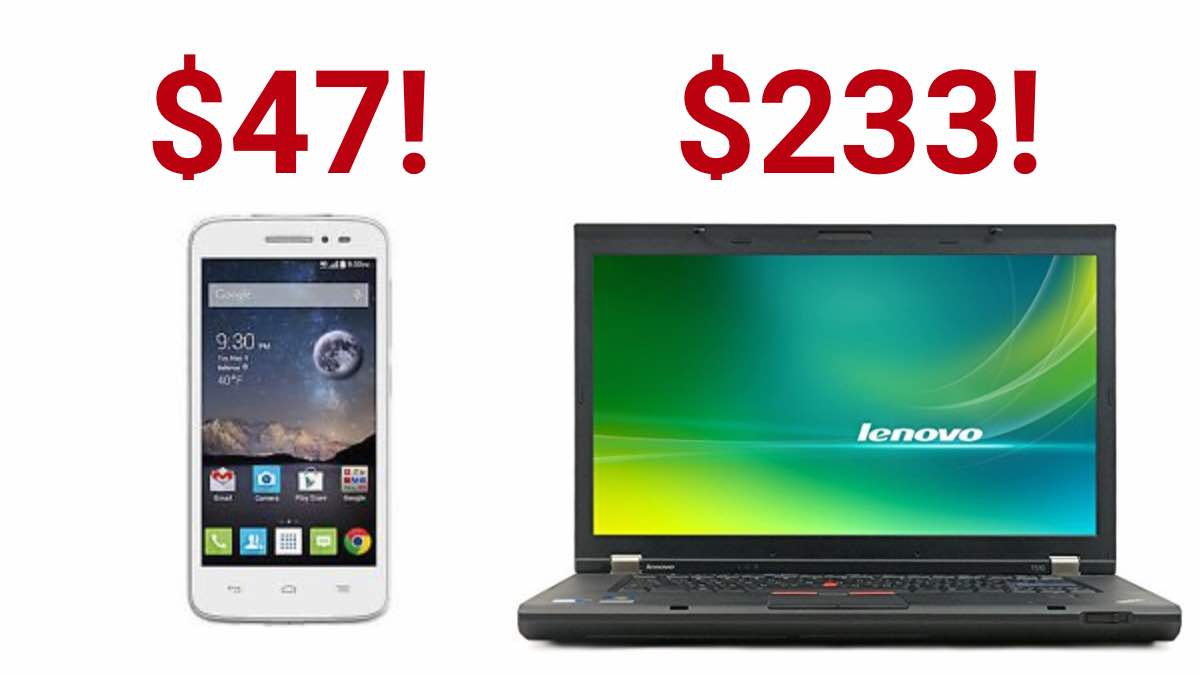 Geek Daily Deals 012318 android mobile phone lenovo laptop
