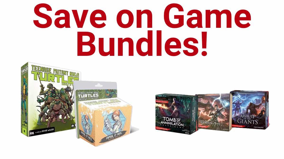 Geek Daily Deals 012518 TMNT D&D game bundles