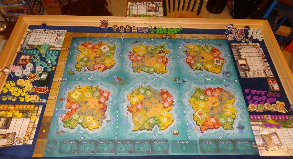 Heroes of Land, Air & Sea 5-player setup