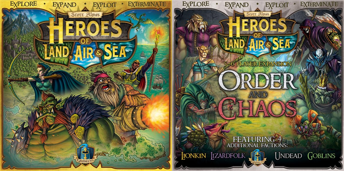 Heroes of Land, Air & Sea core set and expansion covers